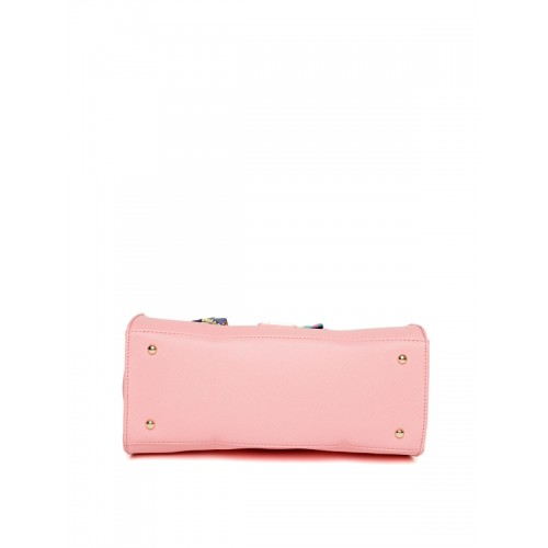 Caprese Pink Solid Handheld Bag with Sling Strap