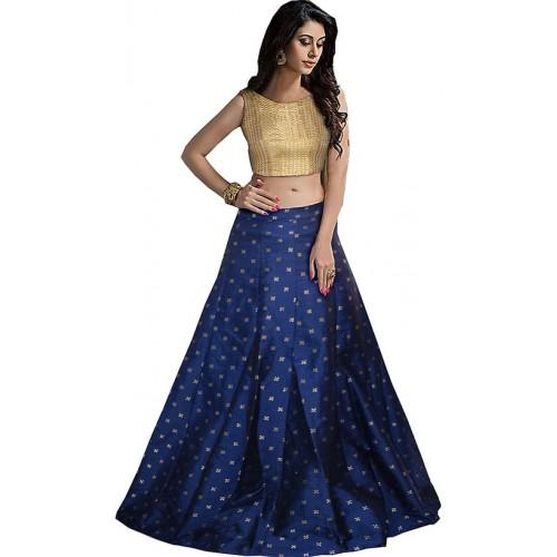 49309db262 ... Active Women's Taffeta Printed Free Size Blue Lehenga Choli For Women  ...