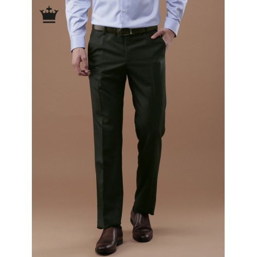b391c08f66c ... Louis Philippe Men Grey Ultra Regular Fit Solid Formal Trousers ...