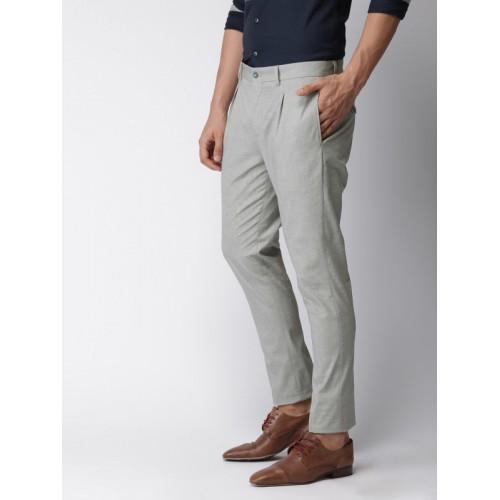 Buy INVICTUS Men Grey Slim Fit Self