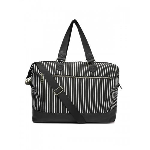 473bf409c6 ... Shoulder Bag  Steve Madden Black   White Striped Oversized Shoulder ...