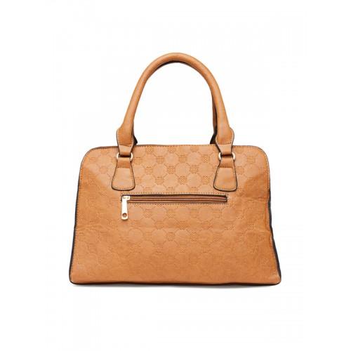 Zoricane Brown Textured Handbag