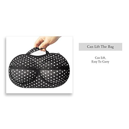 CARRY TRIP Multicolor Lingerie Bra Bag Travel Organizer Small Compact Bra, Organizer case, Travel Bag bra Storage Bag (Black)