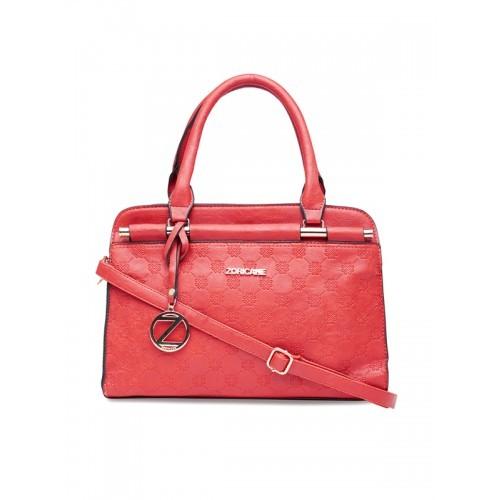 Zoricane Red Textured Handbag