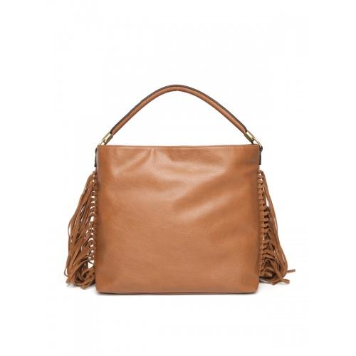 Buy New Look Tan Brown Fringe Hobo Bag online  5f4eae7fe9995