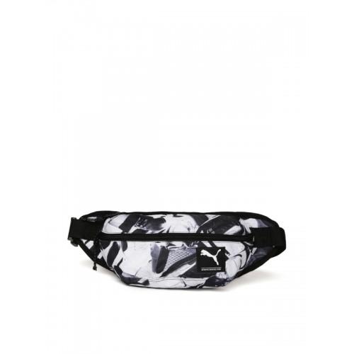 13ace6fa31 Buy Puma Unisex Black   White Academy Waist Printed Pouch online ...
