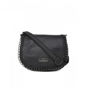 ToniQ Black Solid Sling Bag