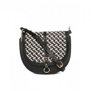 Accessorize Black Textured Sling Bag