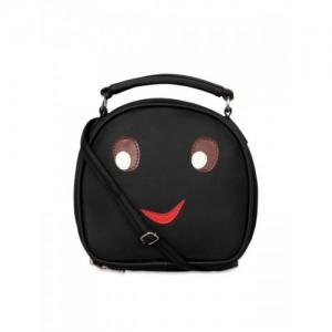 Berrypeckers Black & Red Solid Sling Bag