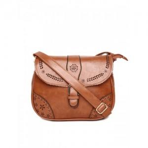 ToniQ Brown Textured Sling Bag