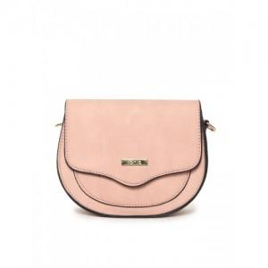 ToniQ Pink Solid Sling Bag