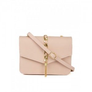 Ginger by Lifestyle Pink Solid Sling Bag