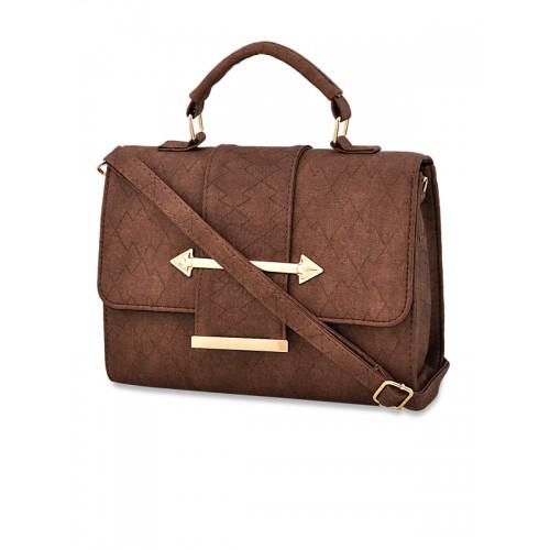 Mark & Keith Set of 2 Brown Self Design Handheld Bag