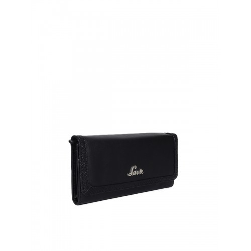Lavie Women Black Solid Two Fold Wallet