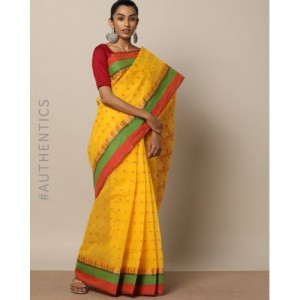 Indie Picks Handloom Bengal Tant Tangail Cotton Saree