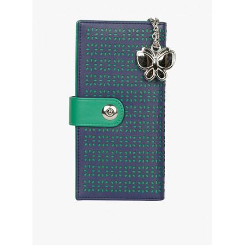 Butterflies Women Blue & Green Cut-Out Wallet
