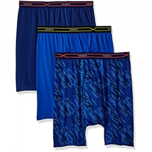 Hanes Red Label Men's Hanes 3-Pack X-Temp Performance Cool Boxer Brief (1 Print/2 Solids)