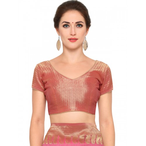 Bhelpuri Pink Woven Design Saree