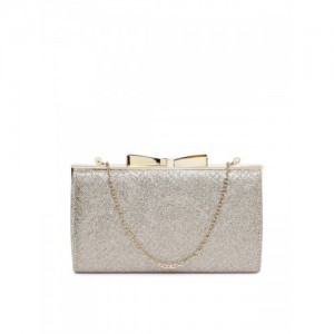 Accessorize Gold-Toned Shimmer Clutch