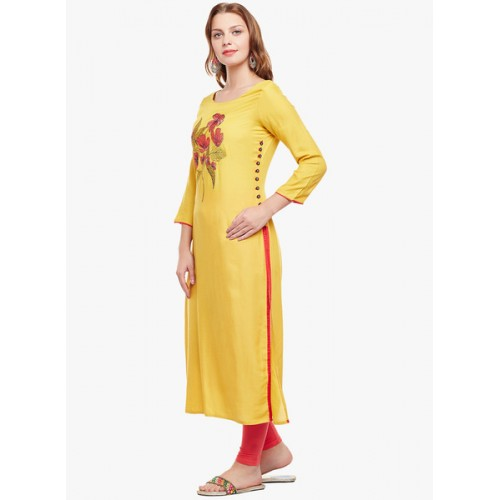Anaisa Embroidered Women's Straight Kurta