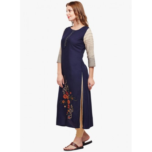 Anaisa Embroidered Women's Straight Kurta