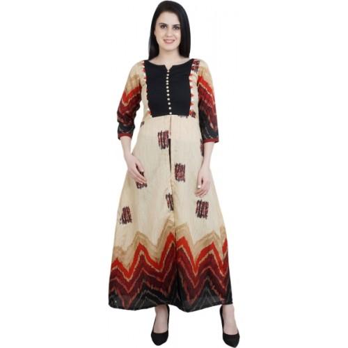 757e596372b Buy MOSHIKI Chevron Zig Zag Women Frontslit Kurta online ...