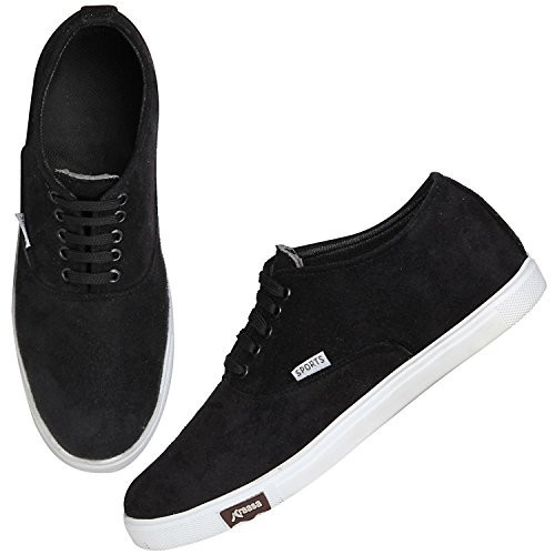 Kraasa 4167 Black Canvas Men Sneakers