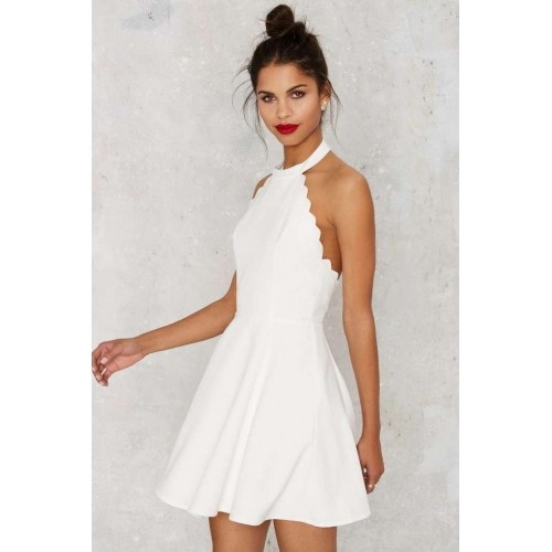 e7feecfe807 Buy Nasty Gal Full Scallop Attack Flare Dress online