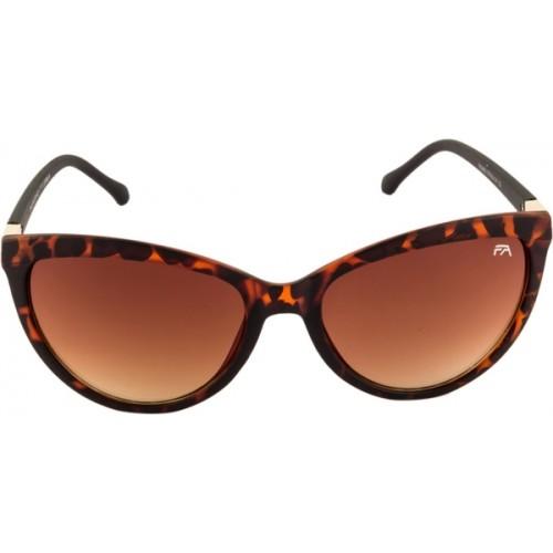 Farenheit Brown Polycarbonate Cat-eye Sunglasses
