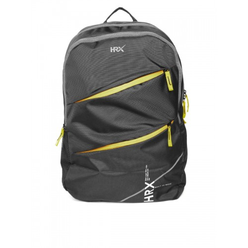 HRX by Hrithik Roshan Unisex Black Backpack
