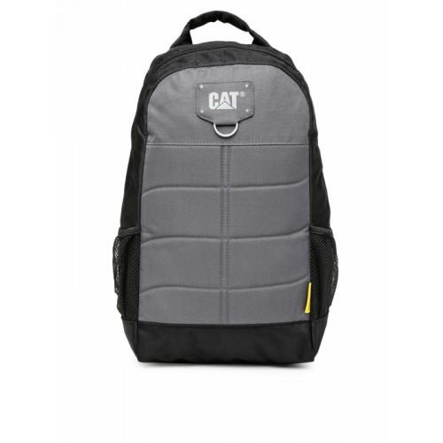 CAT Unisex Black & Grey Solid Benji Backpack