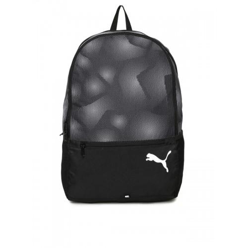 Carretilla cinta grado  Buy PUMA Unisex Black Printed Alpha IND Backpack online   Looksgud.in