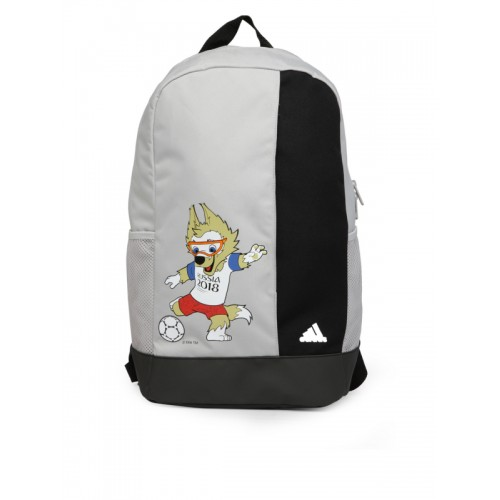 bc36156daa34 Buy Adidas Unisex Grey   Black Mascot Print Backpack online ...