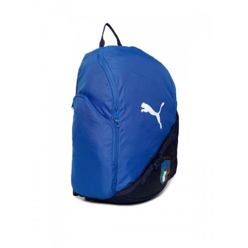15ec7457bf Buy Puma Unisex Blue   Black Italia LIGA Colourblocked Backpack ...