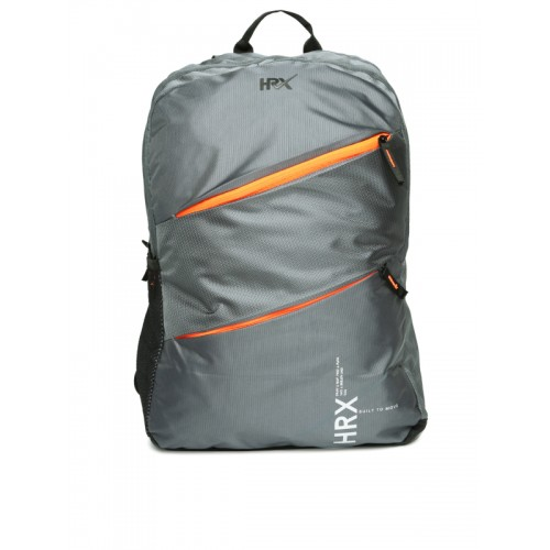 HRX by Hrithik Roshan Unisex Grey Solid Backpack