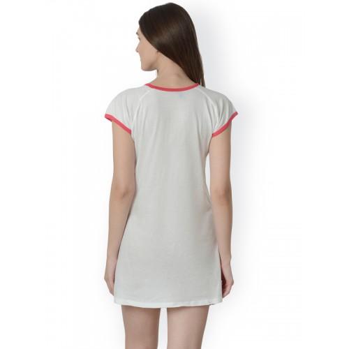 099688d315 Buy Da Intimo Off-White Printed Sleep Shirt DIB227 online