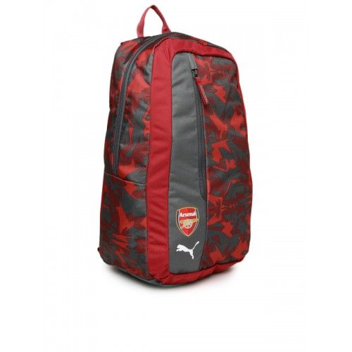 8b6cb7b2684e Buy Puma Unisex Red   Grey Printed Arsenal Camo Fanwear Backpack ...
