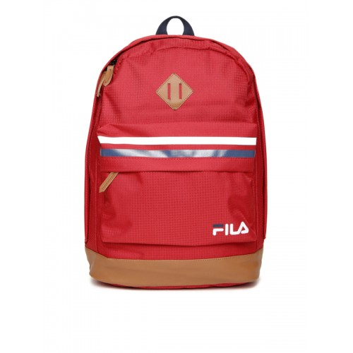 9e746af402c2 Buy FILA Unisex Red Lucas Patterned Laptop Backpack online