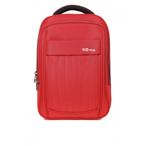 Buy THe VerTicaL Unisex Red Solid Laptop Backpack online  1cfb1ce22220e