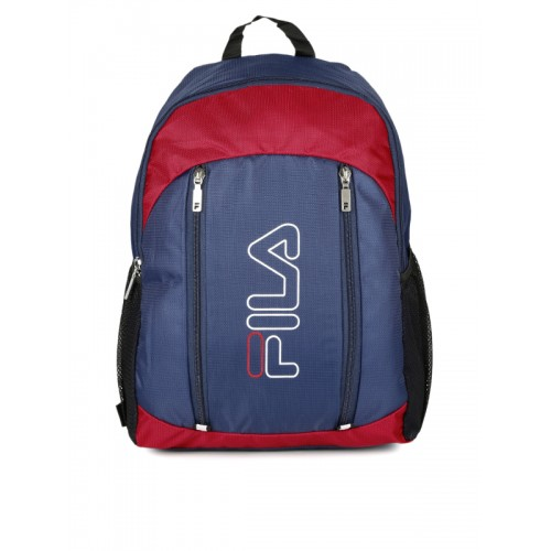 1a032e72a855 Buy FILA Unisex Navy Blue   Red Earth Laptop Backpack online ...