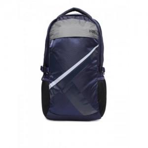HRX by Hrithik Roshan Unisex Navy Blue Geometric Big-X Backpack