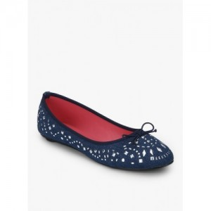 Catwalk Navy Blue Belly Shoes