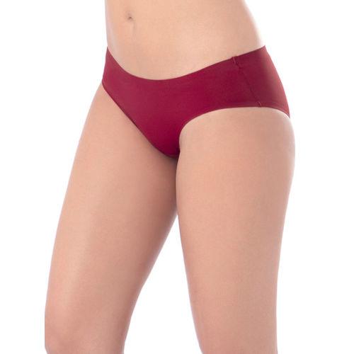PrettySecrets Women Maroon Seamless Bikini Briefs P0005