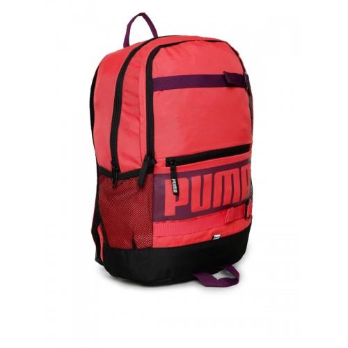 364045170d Buy Puma Unisex Pink Brand Logo Deck Backpack online