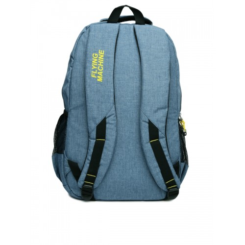 Flying Machine Unisex Blue polyester Laptop Backpack