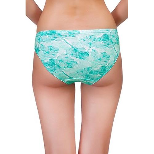 Organic Antimicrobial Laced Bikini Panty