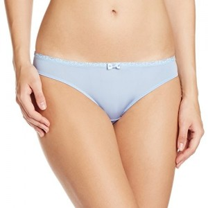 Bwitch Blue Cotton Spandex Solid Brief