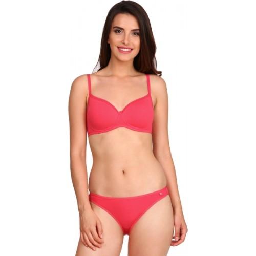 Jockey Red Combed Cotton Bikini Panty