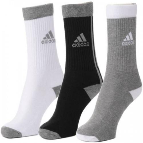 ADIDAS Men Solid Crew Length Socks (Pack of 3)
