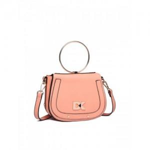 Diana Korr Peach-Coloured Solid Sling Bag